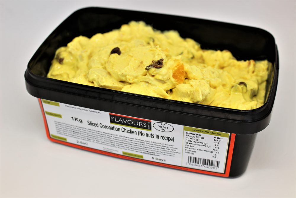 Sliced Coronation Chicken (No Nuts in recipe)