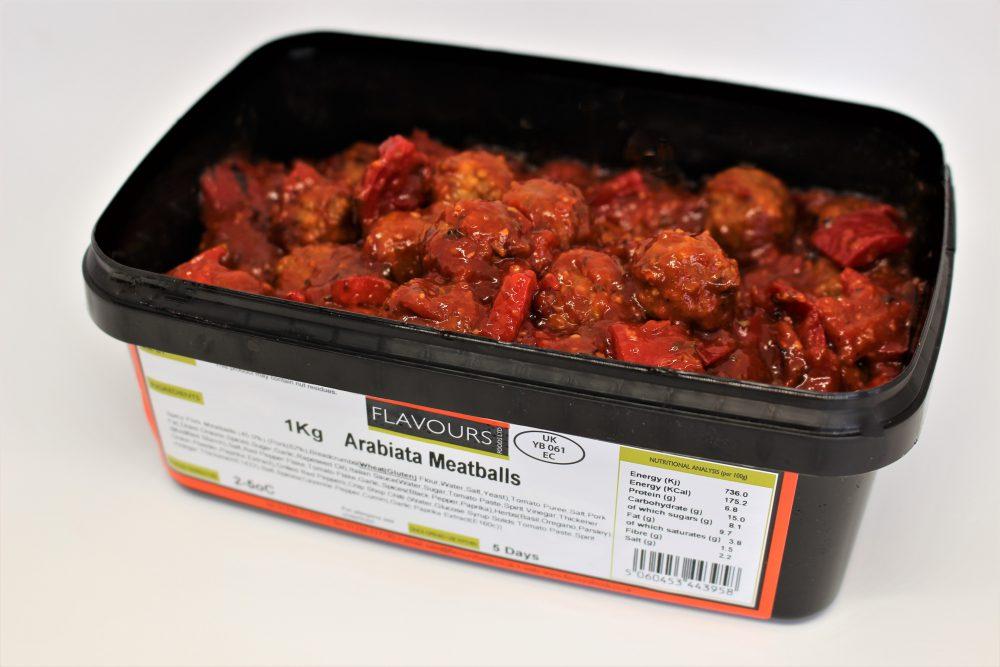 Arabiata Meatballs
