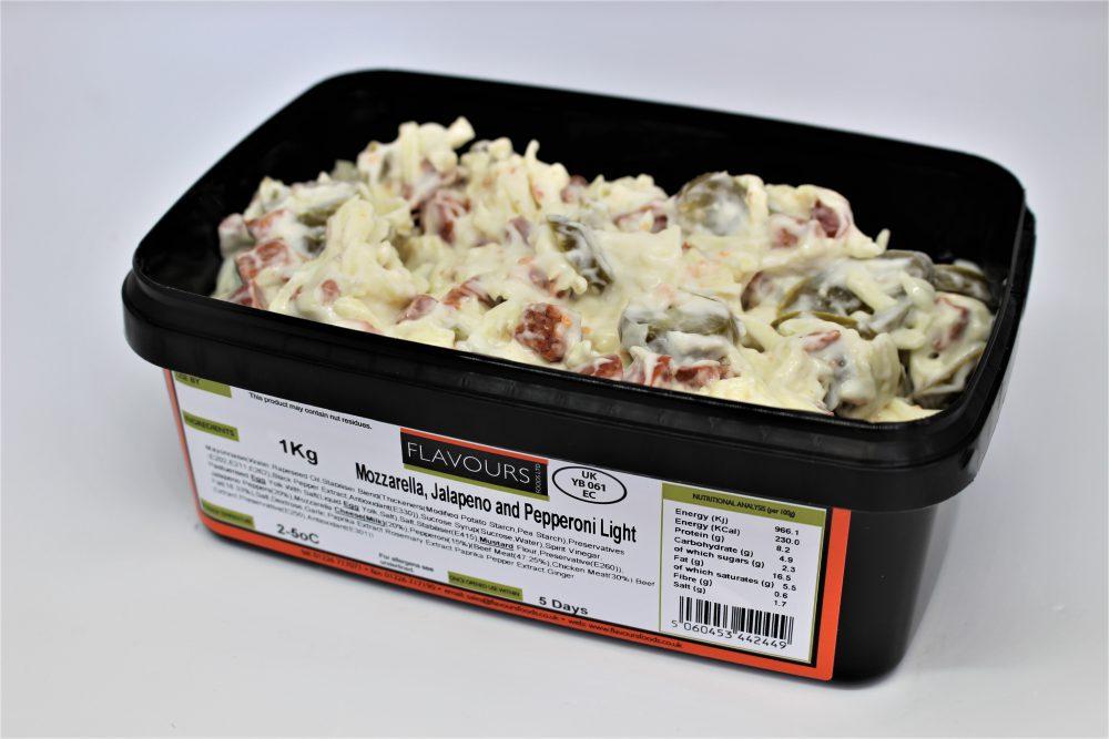 Mozzarella, Jalapeno and Pepperoni Light